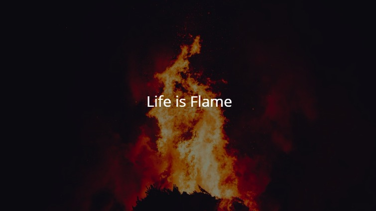 Life is Flame , Life is Meaningfull