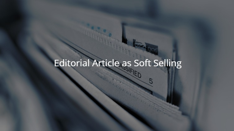 Editorial Article as Soft Selling