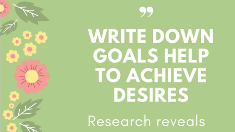Research Revealed Power of Writing Down a List of Your Goal
