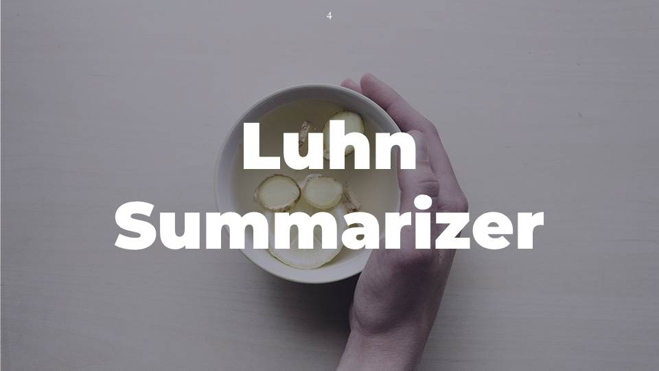 Easy to Create Automatic Luhn Summarizer