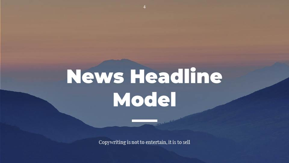 #3 News Headline Model for Copywriting
