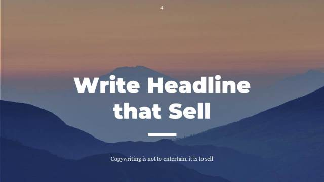 #2 Write Headline That Sell